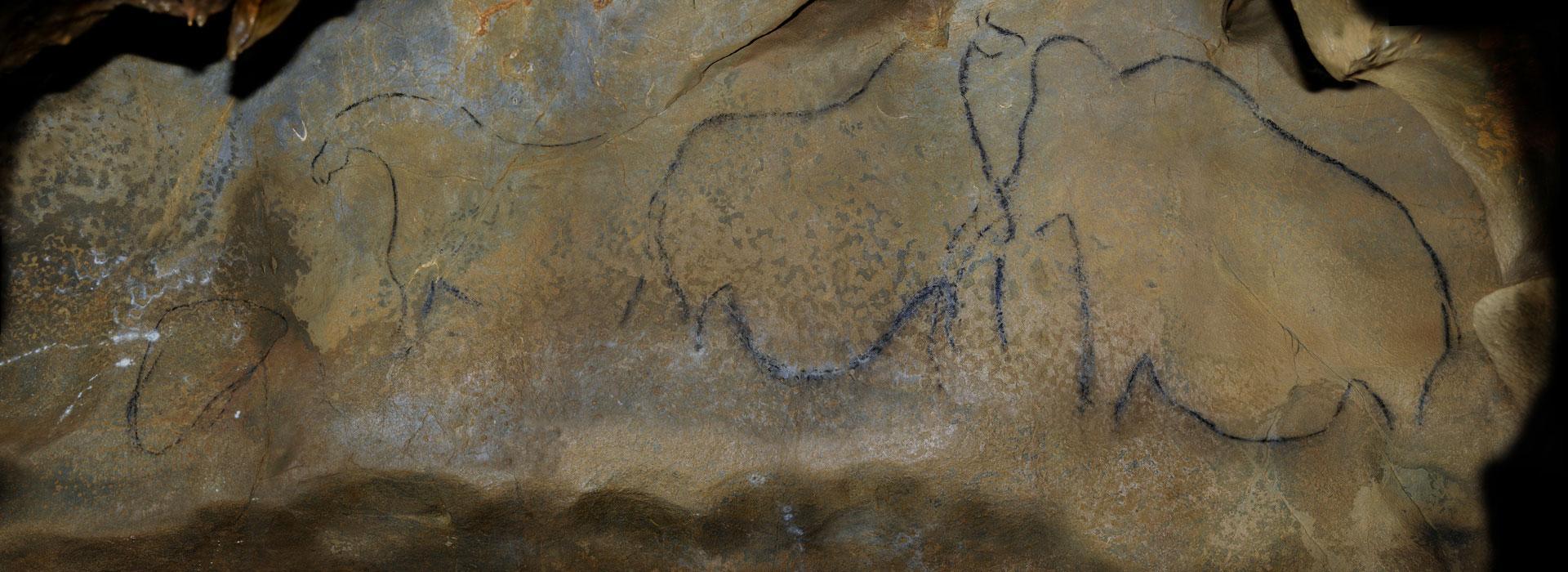 Fresque dans la grotte